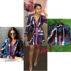 Blogger favorite ZARA Printed Knot Dress XS S
